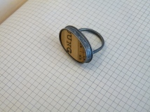 Ring with ruler in ivy pattern setting (size R / ruler is 23 x 14mm) was £90 / now £40